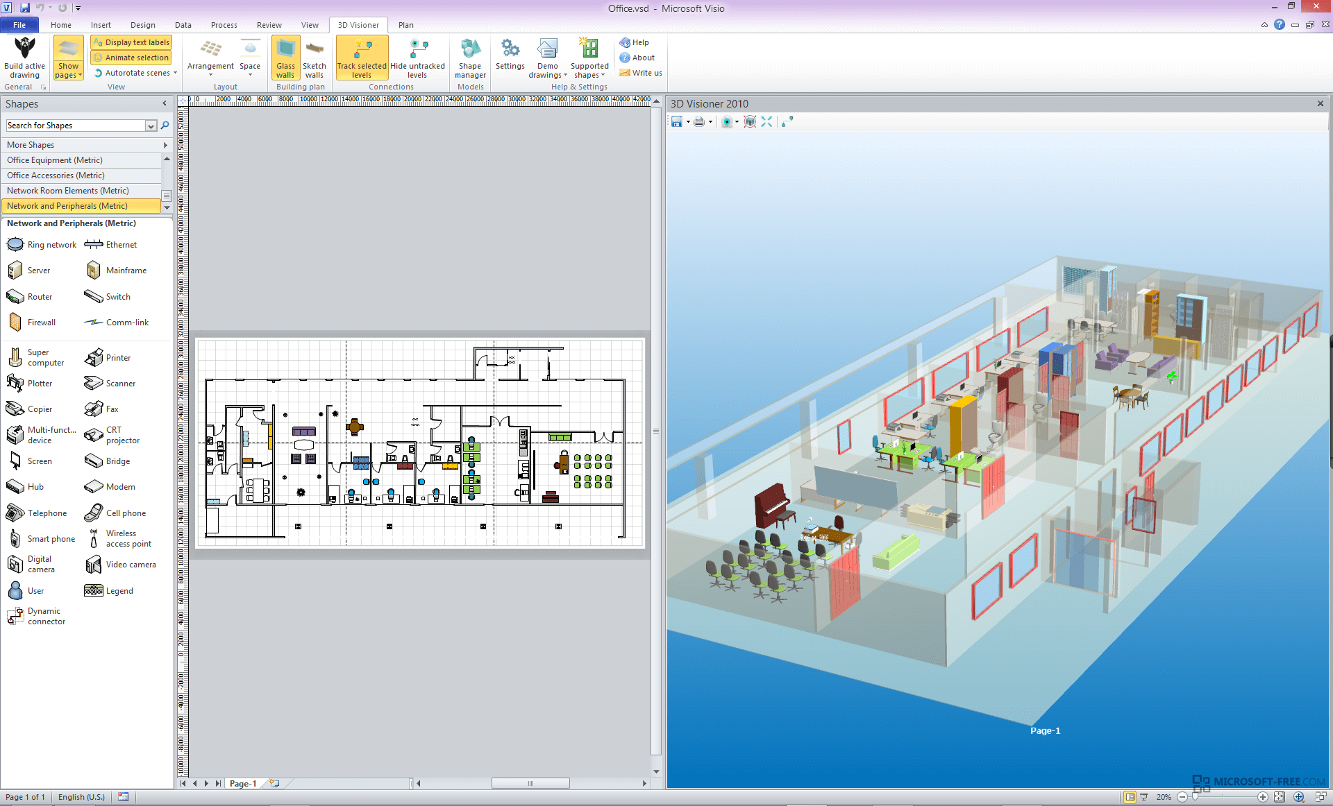 Microsoft visio 2013 for 3d drawing online no download